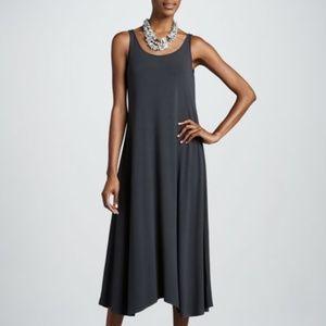 Eileen Fisher Grey Sleeveless Pocket Midi Dress XL
